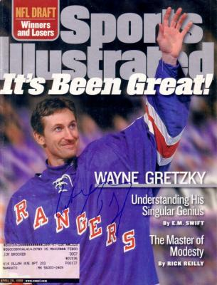 Wayne Gretzky autographed New York Rangers 1999 Retirement Sports Illustrated