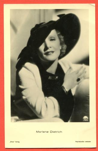 Marlene Dietrich Postcard Postcard Postkarte Real photo Ross Verlag