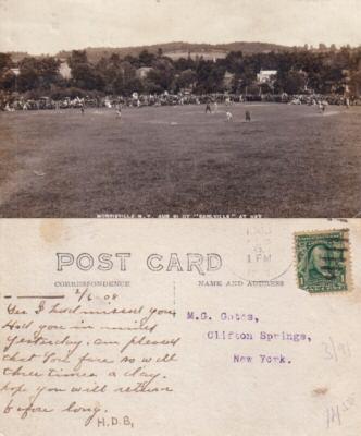 1907 Earlville vs Morrisville (New York) baseball photo postcard