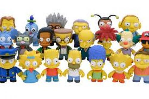 Simpson's Cast Figurine Robot Toy