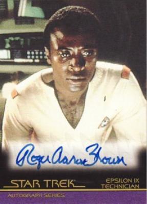 Roger Aaron Brown Star Trek certified autograph card