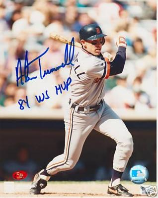 Alan Trammell autographed Detroit Tigers 8x10 photo inscribed 84 WS MVP