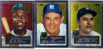 2002 Topps Chrome 1952 Reprints lot of 3 insert cards (Jackie Robinson)