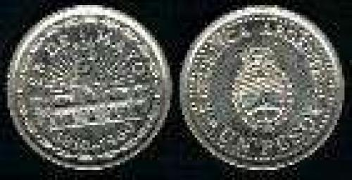 1 Peso; Year: 1960; (km 58); Nickel-Clad-Steel; ESCUDO CABILDO 150 ANVO REVOLUCION MAYO 1810