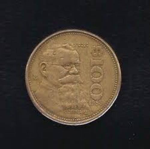 Coins; Mexico 100 Pesos 1985 Coin Km# 493