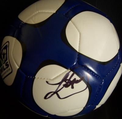 Landon Donovan autographed MLS soccer ball
