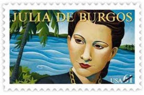 Stamps; Julia de Burgos, Celebrated Poet, Honored on U.S. Stamp