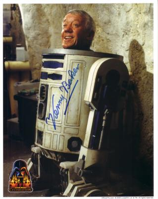 Kenny Baker autographed 8x10 R2-D2 Star Wars photo
