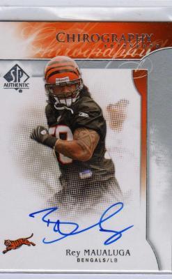Rey Maualuga certified autograph Cincinnati Bengals 2009 SP card