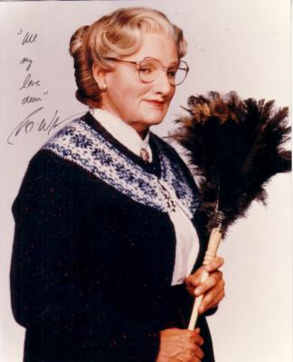 Robin Williams autographed Mrs. Doubtfire 8x10 photo inscribed