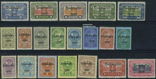 Hochwasser overprints 20v; Year Issue: 1921