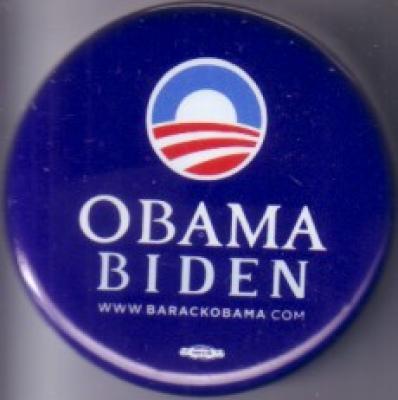 Barack Obama Joe Biden 2008 campaign button or pin