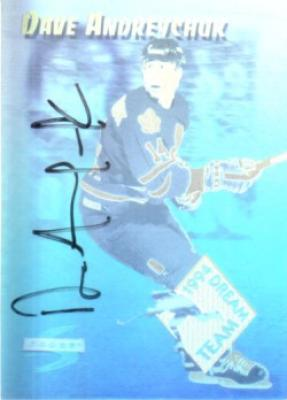 Dave Andreychuk autographed Toronto Maple Leafs hologram card