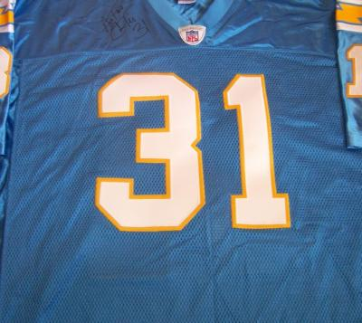 Antonio Cromartie autographed San Diego Chargers authentic throwback jersey