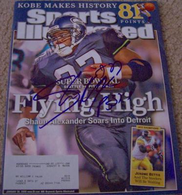 Shaun Alexander autographed Seattle Seahawks 2006 Sports Illustrated