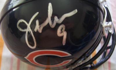 Jim McMahon & Mike Singletary autographed Chicago Bears mini helmet