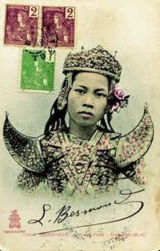 Postcard; Aspara Dance or the Royal Ballet of Cambodia which survived the Pol Pot