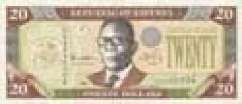 "20 Liberian Dollar; Issue of 1999, ""Republic"" series"
