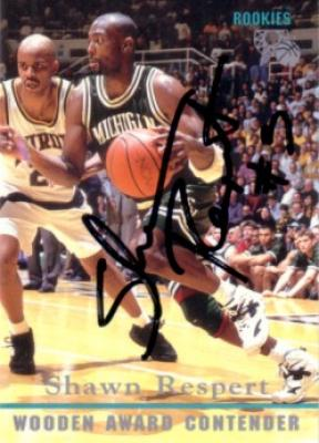 Shawn Respert autographed Michigan State 1995 Classic card