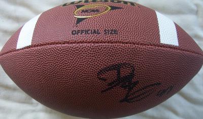 Dwayne Bowe autographed Wilson NCAA football