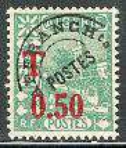 Postage due 1v; Year: 1944