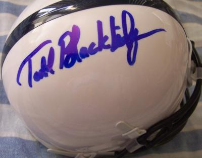 Todd Blackledge autographed Penn State mini helmet