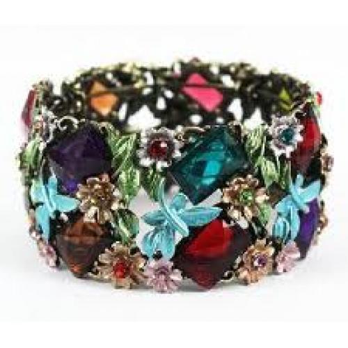 Jewelry; Clear chanel lucite bangle bracelets swarovski