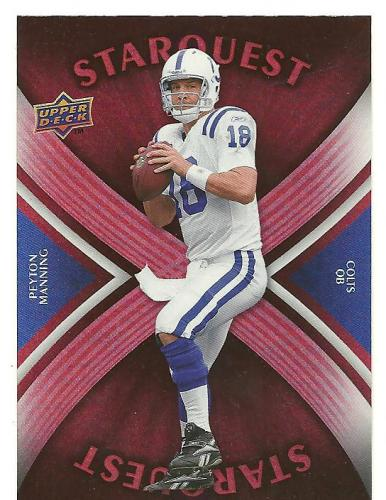 PEYTON MANNING 2008 UPPER DECK STAR QUEST RED
