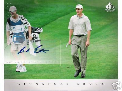 Bob Estes certified autograph 2004 SP Signature Golf 8x10 photo card
