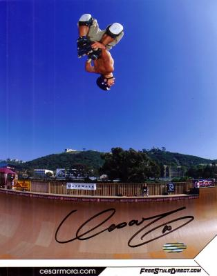 Cesar Mora (inline skater) autographed 8x10 photo