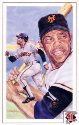 Willie Mays Giants 1992 Legends Magazine postcard
