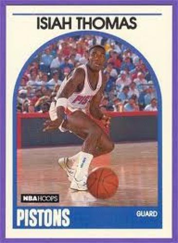 Basketball Card; Isiah Thomas; Pistons Guard; 1989 NBA Hoops Basketball Cards