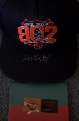 Wayne Gretzky autographed Goal 802 UDA commemorative cap or hat #66/99