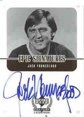 Jack Youngblood certified autograph Upper Deck Century Legends card