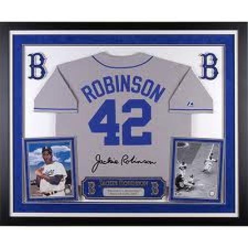 Memorabilia; Mounted Memories Los Angeles Dodgers Jackie Robinson