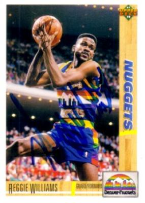 Reggie Williams autographed Denver Nuggets 1991-92 Upper Deck card