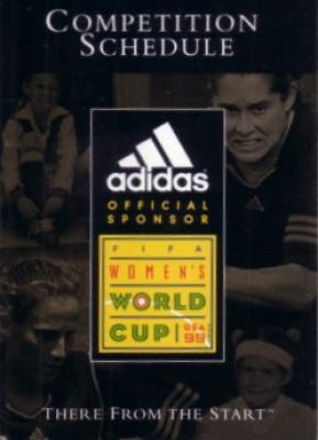 1999 FIFA Women's World Cup soccer Adidas pocket schedule