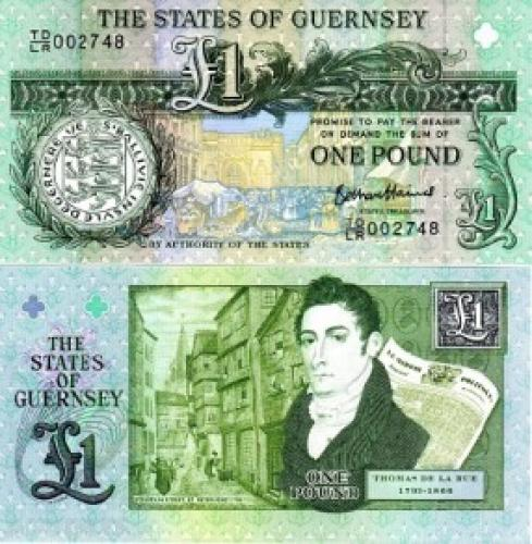 1 Pound Guernsey Banknote Uncirculated UNC (2013)