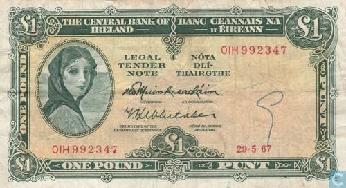Ireland 1 Pound 1967