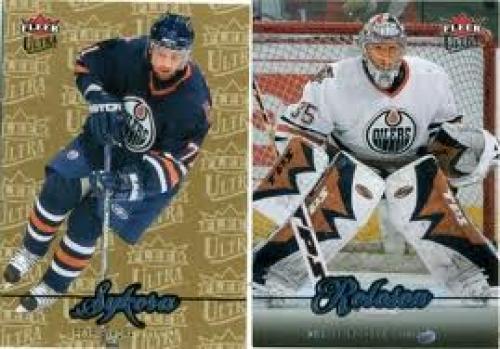 Edmonton Oilers Petr Sykora 2007-2008 Fleer Ultra Dwayne Roloson