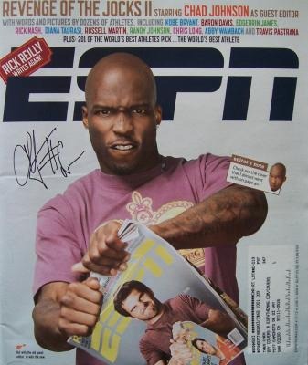 Chad (Ochocinco) Johnson autographed 2008 ESPN Magazine