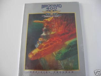 Dale Earnhardt Sr. autographed 1995 Brickyard 400 program