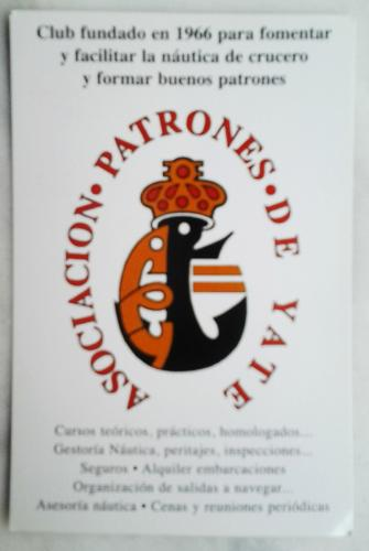 Pocket calendar from Spain
