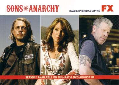 Sons of Anarchy 2009 Comic-Con Fox 5x7 promo card
