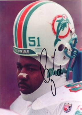 Bryan Cox autographed Miami Dolphins 5x7 photo
