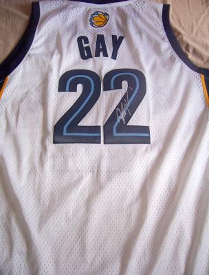 Rudy Gay autographed Memphis Grizzlies jersey