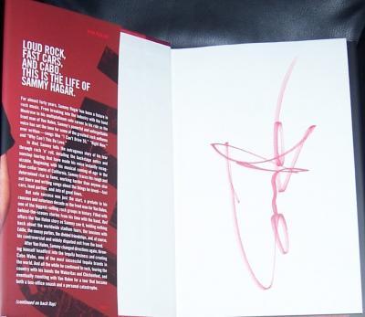 Sammy Hagar autographed Red hardcover book (Van Halen)