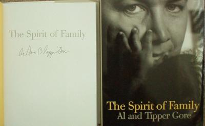 Al & Tipper Gore autographed The Spirit of Family coffee table book