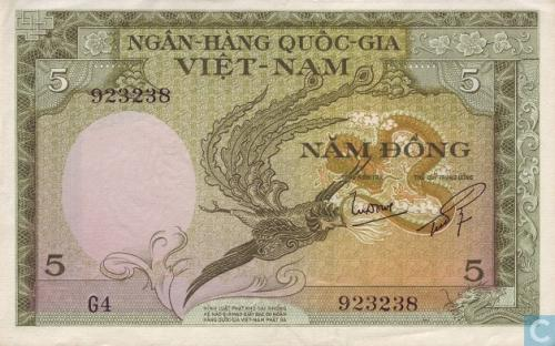 South Vietnam 5 Dong