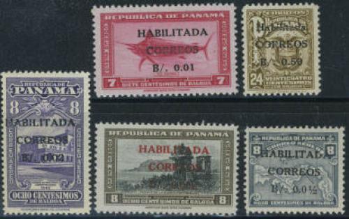 Overprints 5v; Year: 1947